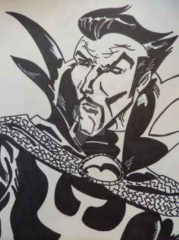 Inktober Oct 30 Doctor Strange by Paul-A-Newman