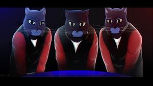 Cats from Caravan Palace Lone Digger clip by Bakukod