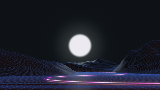 Synthwave 4k by AxiomDesign