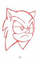 Annoyed Sonic Head by Dillon-the-hedgehog
