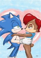 Sonic and Sally by ViralJP