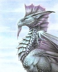 Silver Dragon by FlamSlade
