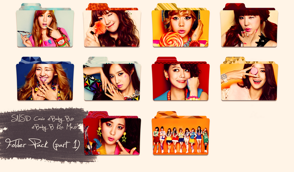 SNSD ~Casio Baby G/Kiss Me~ Folder Pack Part 1 by ShimSungHyo