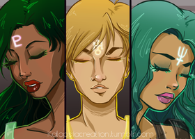 Sailor moon redraw- outer senshi by KalopsiaCreation
