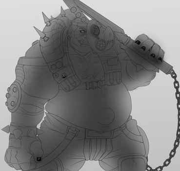 Roadhog Lineart by Benzy