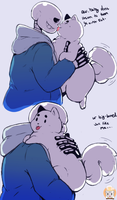 Sans Loves his Fat Baby by ZahForbiddenArtist