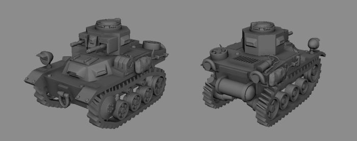 Light Tank model by Henskelion