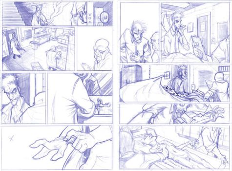 Hellblazer pencils by Skuzzbucket