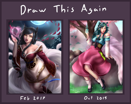 Draw this again Ahri by MilanaMill