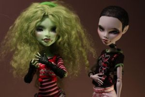My girls! (Witch and Ghoulia) by Armeleia