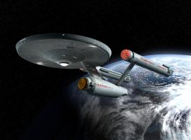 U.S.S. Enterprise by ryanrybot