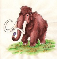 Flower mammoth by Paperiapina