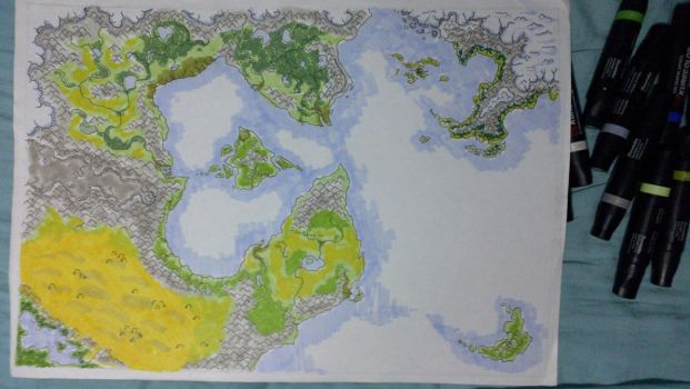 Dungeons and Dragons Campaign world by EmaCamU