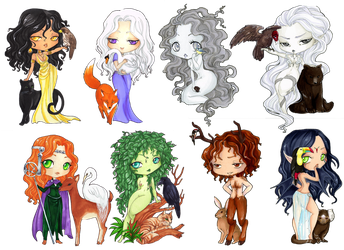 - COMMISSION - Chibi set 14 by ooneithoo