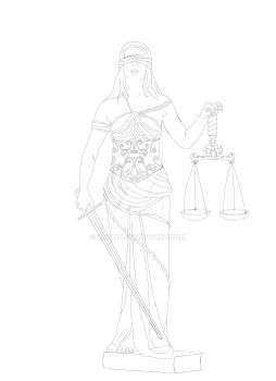 Justice lineart by RaNuit