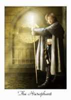 Tarot Card: The Hierophant by cosmosue
