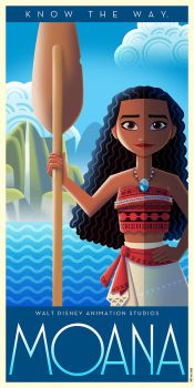 Moana Art Deco poster by DavidGFerrero