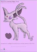 Espeon Journal Skin by AbyssinChaos