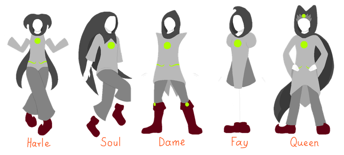 Homestuck: female counterparts for male classes by annethyl