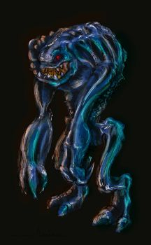 Blue troll of the dark by allens