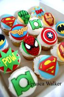 Superhero Cupcakes by Verusca