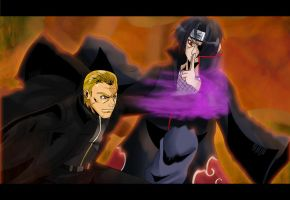 Itachi vs Wesker by ss2sonic