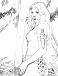 Shanna the She-Devil in Savage Land pencil sketch by SatyQ