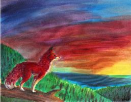 Painted Fox by Joava