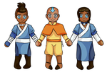 The Aang Gang by Nerdy-Paper-Dolls