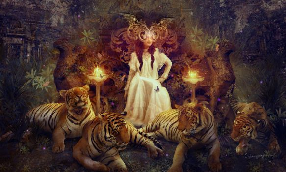 The Tiger Temple by CassiopeiaArt