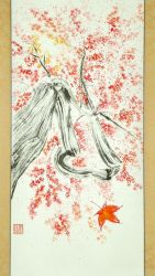 Sumi-e: Red Maple FINAL by catherinejao