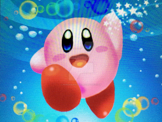 3DS Drawing 9 - 3D Kirby by pandaserules97