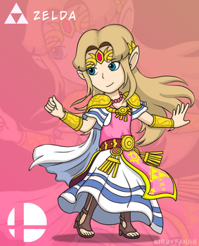 Zelda (Super Smash Bros - Ultimate) by kirbyfan88
