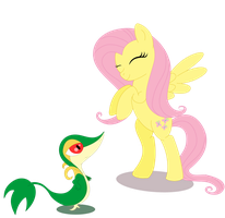 Fluttershy and Snivy