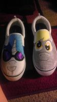Derpy and DJPON3 shoes by mayfirerose