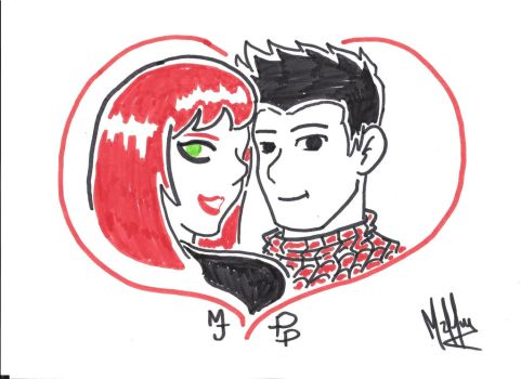 Peter Parker and Mary Jane  Valentine's Day by tetesouza