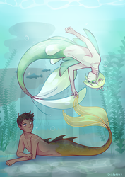 Lounging in a Lake by DizzyAlyx