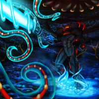 Commission- Samus vs. Metroid Prime by Cryophase