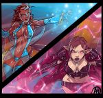 Elves Dreams Commissions Dueling Sorceress Promo by Ganassa