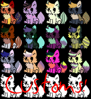 Cat Adopts 4 Points (OPEN) by Auraic-Adopts