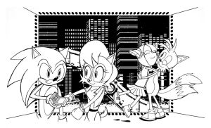 Sonic and Tails Rescues Sally and Cosmo by Big-Al-Son86