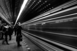 Subway Black and White by voogac