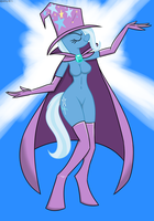 The Great and Powerful Anthro Trixie by MysteryFanBoy718