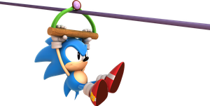 Sonic Mania Green Hill Zone Act 2 - Zipline Render by alsyouri2001