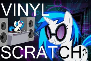 ERB of MLP Title Card 1: Vinyl Scratch by enigmaMystere