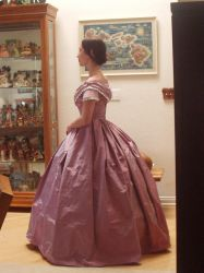 Lavender Pink Ball Gown, Side by Lady-Lovelace