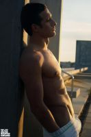 Man at sunset by Nadixe