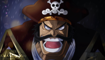Gol D Roger King of Pirate Anime Colors One Piece  by Amanomoon