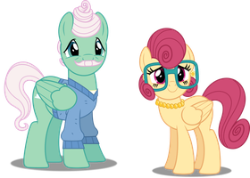 Vector #495 - Mr. Shy and Mrs. Shy by DashieSparkle