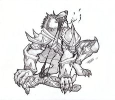 Worgen eating a Goblin by PeterMan2070